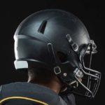 Football Player and Helmet