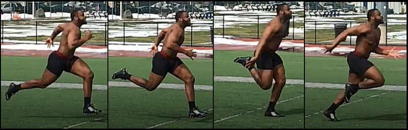 40 Yard Dash Butt Kick